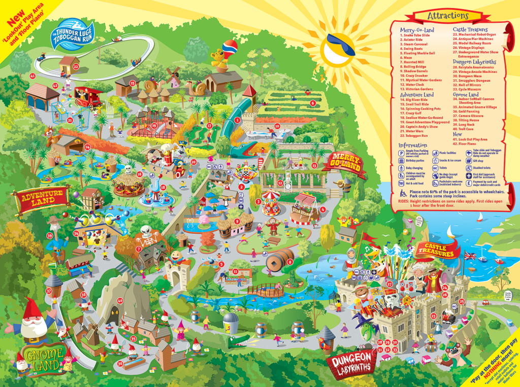 Watermouth Park Map